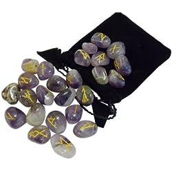Set de Runas futhark de piedras preciosas para adivinación