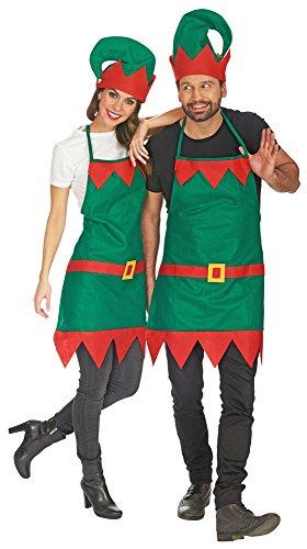 Wichtel Kostüm Schürze mit Mütze - Tolle Zwergen oder Elfen Verkleidung für Damen und - Paare Kostüm Für Weihnachten