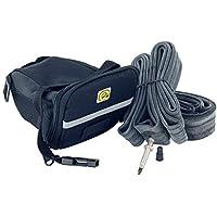 EIGO fourre-tout Bandoulière-fix Lot de pneus et Inner Tube Multi - 2-Pack-Valve Presta-Noir - 700 x 35-43c de 40 mm