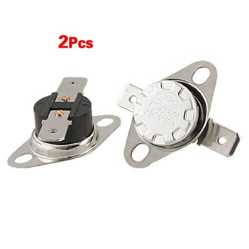 SODIAL (R) 2 x Temperatur-Schalter Thermostat 125C Celsius NC KSD301