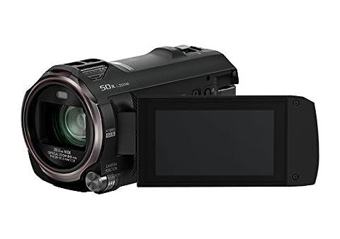 Panasonic HC-V777EG-K Full HD Camcorder ( Full HD Video, 20x opt. Zoom, opt. Bildstabilisator, WiFi, Wireless Twin Camera) schwarz
