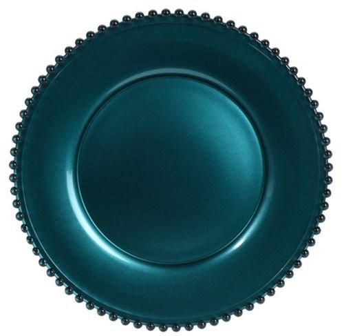 34 cm sans plomb Verre de Cristal Assiette de Assiette de service Vert