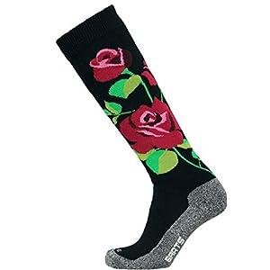 Barts Herren Skisock Roses Sportsocken, Schwarz (Nero 1), One size (Herstellergröße: 2)