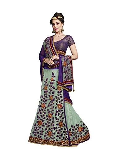 Mahotsav Net Saree (3617_Purple, Green)  available at amazon for Rs.2260