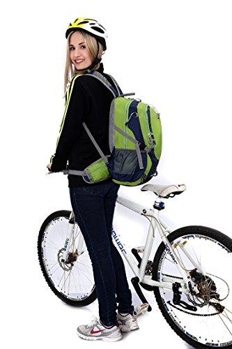 Diamond Candy Zaino Trekking Sportivo Outdoor Donna e Uomo per campeggio alpinismo arrampicata Viaggio Bicicletta ad Alta Capacit¨¤,Multifunzione, 26 litri Viola Verde