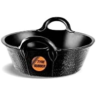 Faulks S2 Medium 20l Feed/Skip Black Tyre Rubber Bucket/Manger - Horse/Pony/Pets