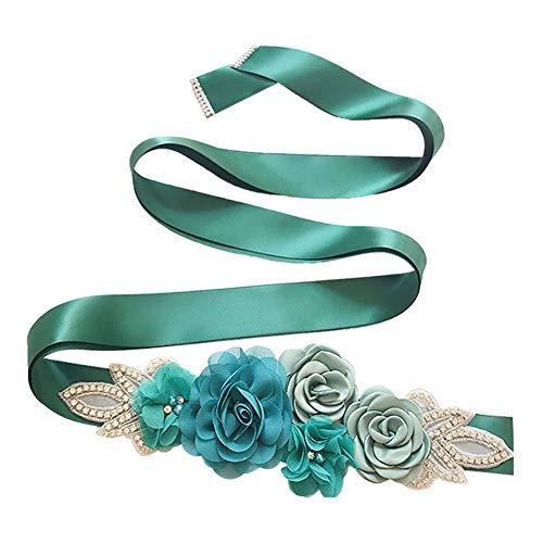 BIGBOBA. Elegante Cinturón de Mujer con La flor Rosa-Múltiples Colores Elegante Cinturón para Decorativa Falda de Verano (D)