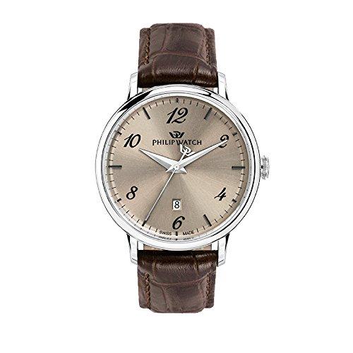 PHILIP WATCH Reloj Analógico para Hombre de Cuarzo con Correa en Cuero R8251595004