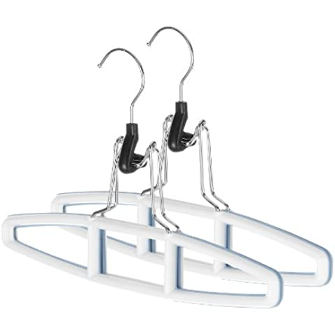 Whitmor 6672-2397-2 Sure-Grip Hanger Collection Slack Hangers, Set of 2 by Whitmor