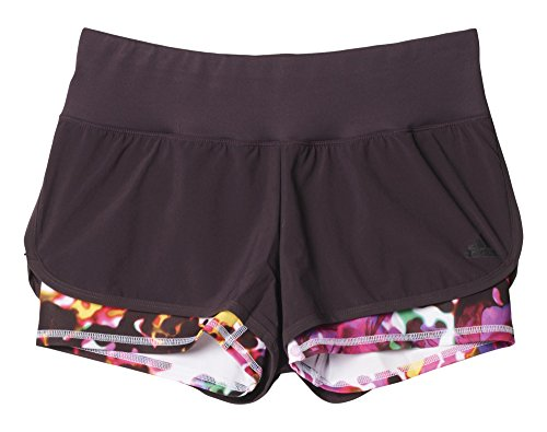 Adidas Gym Shorts (adidas Damen Shorts GYM 2-in-1, Mineral Red /Shock Pink, 2XS, 4056561476064)