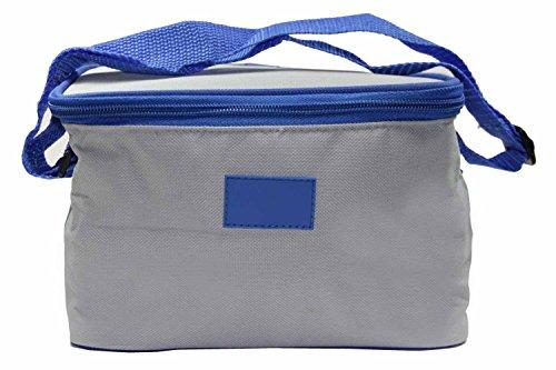 LINDER EXCLUSIV Kühltasche Mini aus Nylon Klein Faltbar mit Trageriemen z.B. für 6 Dosen (0,33l)