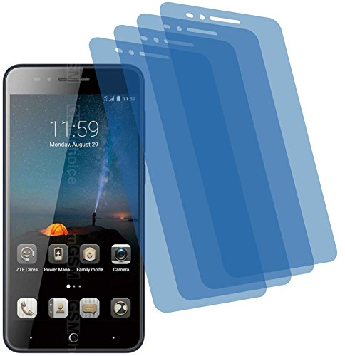 4ProTec 4X Crystal Clear klar Schutzfolie für ZTE Blade A612 Premium Bildschirmschutzfolie Displayschutzfolie Schutzhülle Bildschirmschutz Bildschirmfolie Folie