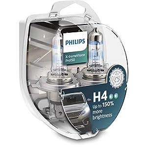 Philips X-tremeVision Pro150 H4 lampadina fari auto +150%, confezione doppia