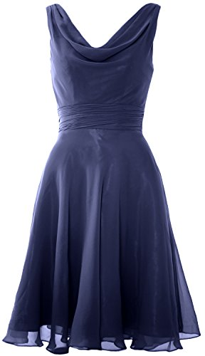 MACloth - Robe - Trapèze - Sans Manche - Femme Blu navy scuro