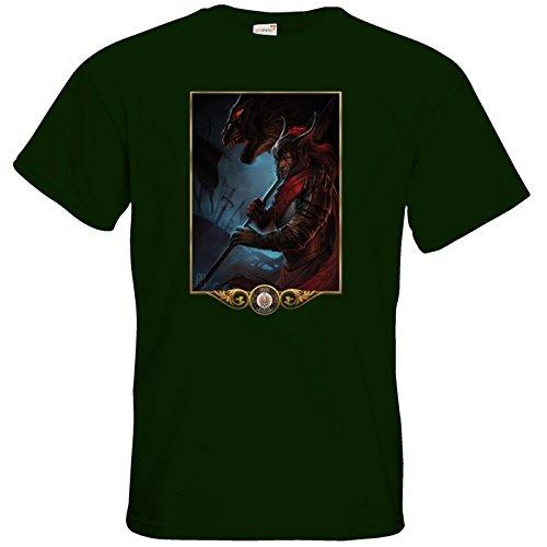 getshirts - Das Schwarze Auge - T-Shirt - Götter - Kor Bottle Green