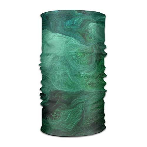 Green Miles Headwear For Men And Women-Yoga Sports Travel Workout Wide Headbands,Neck Gaiter,Bandana,Helmet Liner,Balaclava,Hair Turban,Scarf