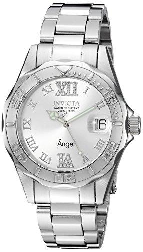 Invicta donna 'Angel' Orologio al quarzo acciaio INOX casual, colore: tonalità argentata (Model: 14396)