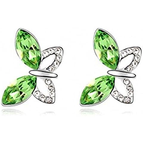 TAOTAOHAS cristallo orecchini della vite prigioniera [ farfalla sulla spalla], 18KGP Rhinestone