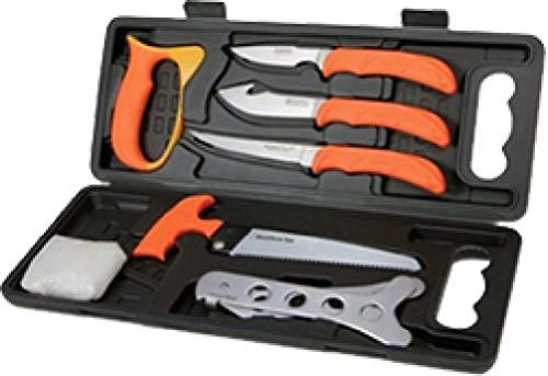 OUTDOOR EDGE Wild-Pak Set aus 8Fleischerkoffern Unisex Erwachsene, Orange/Grau, 152mm