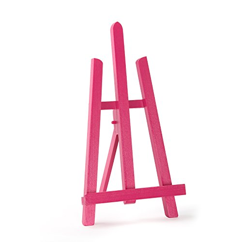 PINK COLOR BEECH WOOD 390MM ARTIST TABLE TOP DISPLAY EASEL - BEST EUROPEAN QUALITY by Quantum Art
