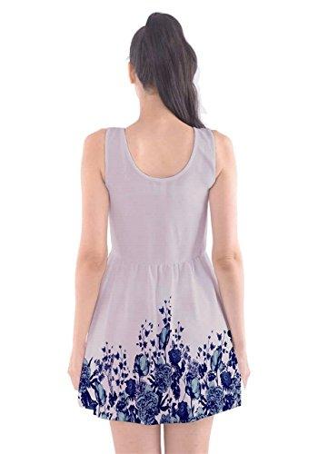 CowCow Damen Kleid Violett Lavender - Weiß (Classic White)