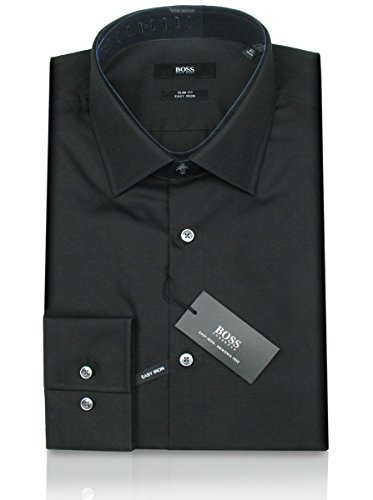 HUGO BOSS Business-Hemd | Jenno ( Slim Fit ) schwarz / black (43 | XL) (Weiße Jeans, Hugo Boss)