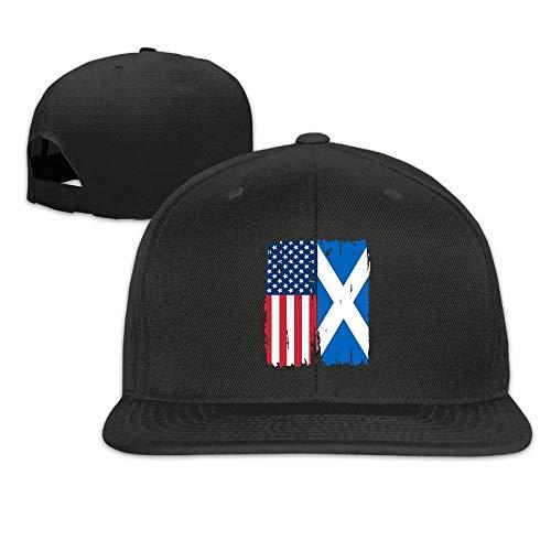 American Scotland Flag Baseball Caps Men and Women Flat Billed Adjustable Classic Peaked Cap -