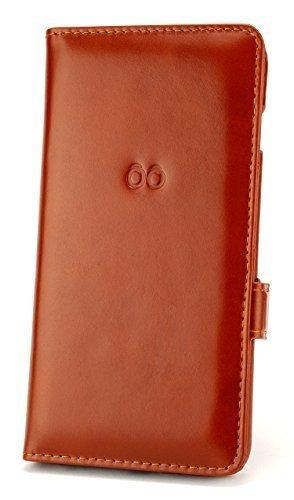 """trooble exquisite Echtleder Bookcase für Apple iPhone 6 Plus 5.5"""" und iPhone 6s Plus - Hülle - Tasche - Case - Cover - echtes Leder - Bookcase - inkl. Visiten-karten-slot vintage braun mit Magnet-verschluss - edel luxus"""