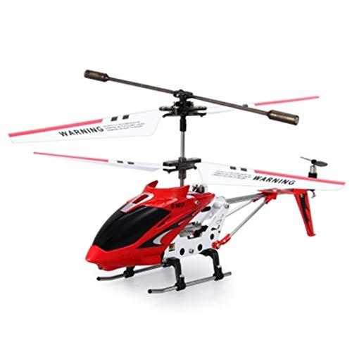 LABULA RC Hubschrauber, RC Helikopter Mit LED-Licht,RC Helikopter Indoor Mit Gyro Und LED Lichtern 3,5 Kanäle Fernbedienung Hubschrauber Mikro RC Hubschrauber Für Kinder Und Erwachsene,Rot