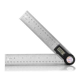 Winkelmesser Tacklife MDA01 Winkel Lineal aus Edelstahl, Digital Anzeige, Längenmessung 400mm/ 14 Zoll, Messbereich: 000.0°~999.9°, Relative und Absolute Winkelmessung, HOLD Funktion