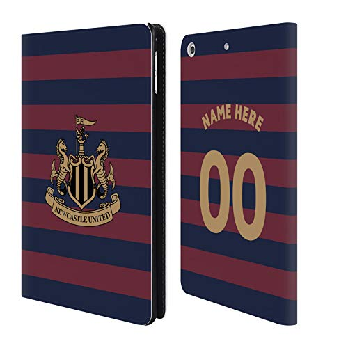 Head Case Designs Personalisierte Individuelle Newcastle United FC NUFC Away Kit 2018/19 Crest Brieftasche Handyhülle aus Leder für iPad Mini 4 -