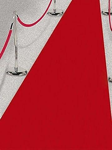 Roter Teppich VIP Deko Empfangsteppich Hochzeit Deko 450x61 cm Red Carpet (Teppich Rot)