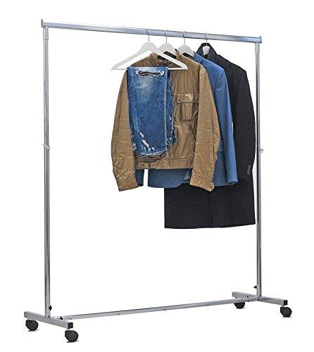 Stender appendiabiti professionale con barra appenderia di cm 150+70 regolabile in altezza da cm 110 a 180,stand appendiabiti per cabine armadio