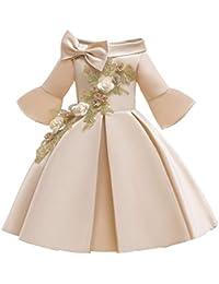 Vectry Navidad Vestido De Niñas Princesa Vestido Floral Niñas Princesa Dama De Honor Desfile Vestido Fiesta De Cumpleaños Vestido De Novia Outfits Vestido De Tutú Flores Cumpleaños