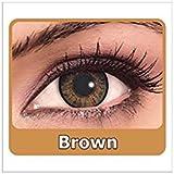 Optify Dark Brown Monthly Color Contact Lens (Zero Power, Dark Brown)