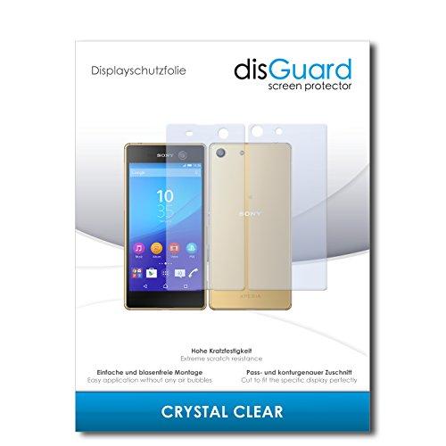 disGuard® Bildschirmschutzfolie [Crystal Clear] kompatibel mit Sony Xperia M5 [2 Stück] Kristallklar, Transparent, Unsichtbar, Extrem Kratzfest, Anti-Fingerabdruck - Panzerglas Folie, Schutzfolie