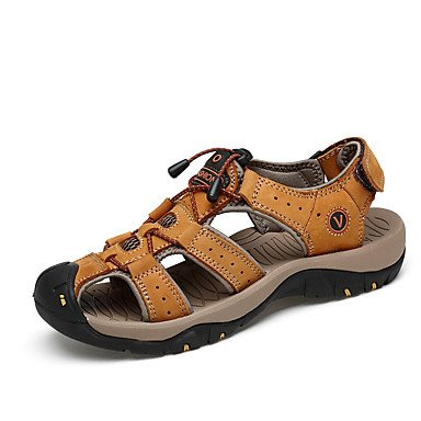 Los hombres sandalias verano PU Confort casual al aire libre naranja marrón US7 / EU39 / UK6 / CN39