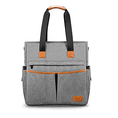 Nappy Changing Bag Travel Multi-function - Stylish Totes Messengers Large Capacity Diaper Bag with Changing Mat Stroller Straps Baby Shower Gifts