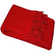 Nuances du Monde - 3006707, Telo copri-divano, Rosso (Rouge), 220 x 240 x 240 cm