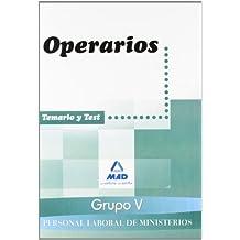 Personal Laboral Ministerios (Grupo V). Operarios. Temario Y Test