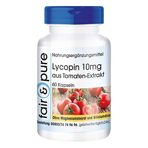 Licopeno 10mg de extracto de tomate, 60 cápsulas y conservantes