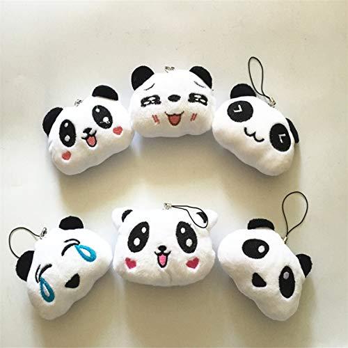 DWSM Cartoon Niedlichen Panda Handy Anhänger Großen Kopf Panda Plüschtier Puppe Puppe Geschenk 20 Gemischt 6 CmGeschenk 902 Handy