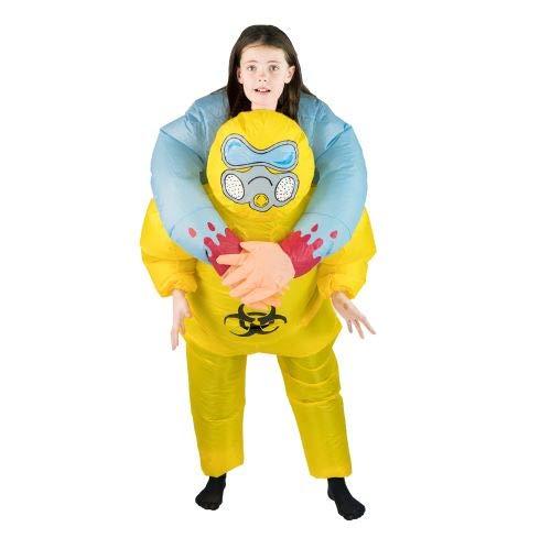 Bodysocks Fancy Dress Kinder Aufblasbares Huckepack Kostüm Biohazard Anzug