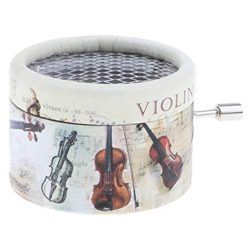 WHTBB Caja de música clásica de mano pura Personal de mano musical para violín de cumpleaños de niños, caja de música