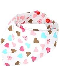 Babero de algodón para bebé recién nacido con diseño de dibujos animados, toalla y bufanda para bebés