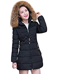 Cheminée Stepp Femme Mode Elégante Épaissir Chaud Quilting Blouson Spécial  Style Capuche en Fausse Fourrure Manteaux Manches Longues… ccee37b68ba4