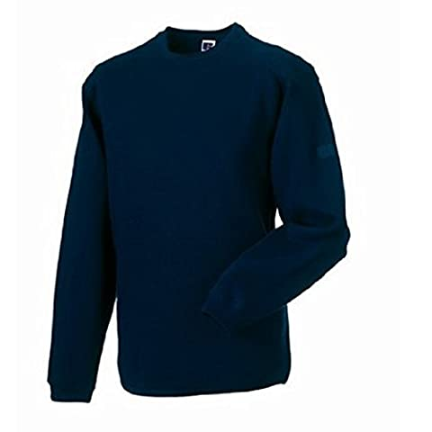 Russell Workwear Mens Crew Neck Set In Sweatshirt Top (L) (French Navy)