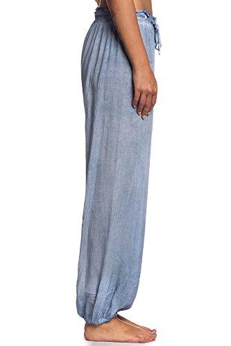 Abbino IG003 Pantaloni da Jogging Donne Ragazze - Made in Italy - Multiplo Colori - Mezza Stagione Primavera Estate Autunno Saldi Tenerezza Moderno Tempo Libero Sexy Moda Eleganti Caldo Casuale Blu (Art. 62632)