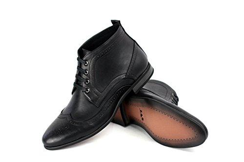 Hommes Bottes Cheville Décontractées Mode Chelsea Chaussures Noir