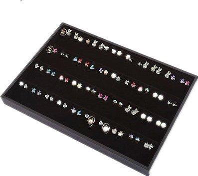 Ardisle Plateau de rangement / présentoir à bijoux en velours, pour 100bagues